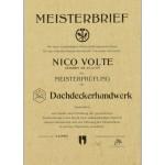 Meisterbrief Nico Volte