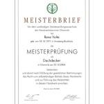 Meisterbrief Rene Volte